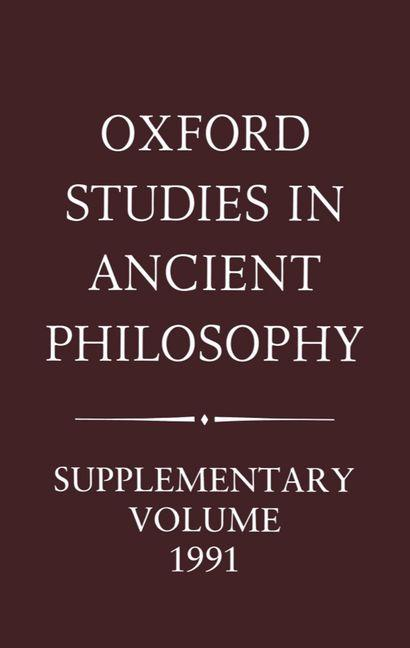 Oxford Studies in Ancient Philosophy: Supplementary Volume 1991: Aristotle and the Later Tradition