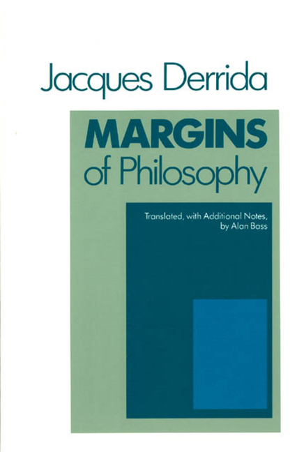 Margins of Philosophy. JACQUES DERRIDA