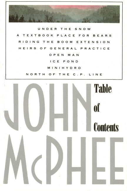Table of Contents. JOHN MCPHEE