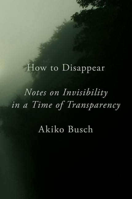 How to Disappear: Notes on Invisibility in a Time of Transparency. Akiko Busch