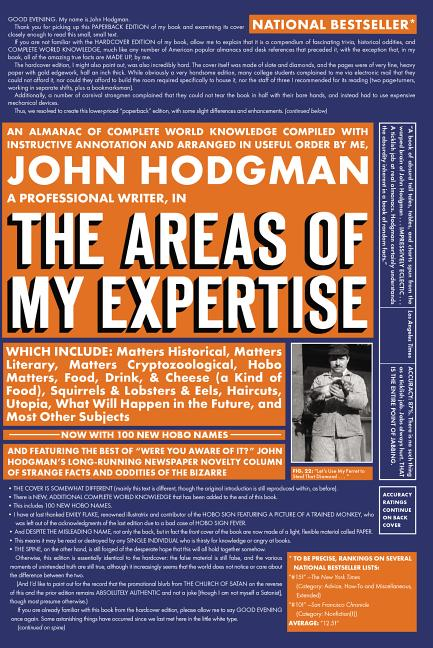 The Areas of My Expertise. John Hodgman