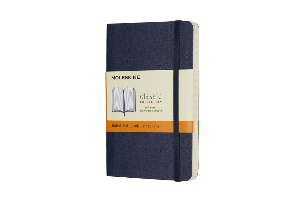 Moleskine Classic Notebook, Pocket, Ruled, Sapphire Blue, Soft Cover (3.5 X 5.5). Moleskine