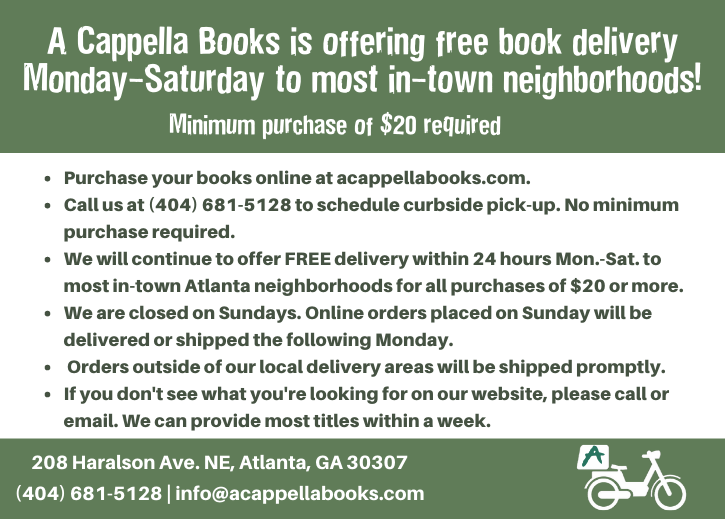 Free in-town delivery when you purchase online at A Cappella Books