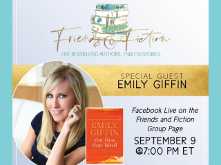 Friends & Fiction Facebook Live Happy Hour with Special Guest Emily Giffin
