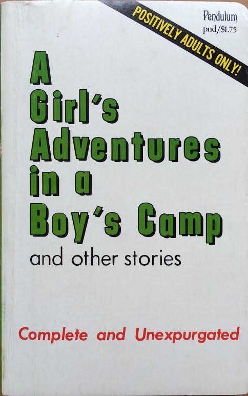 A Girl's Adventures in a Boy's Camp. Sexy Cover Art Anonymous.