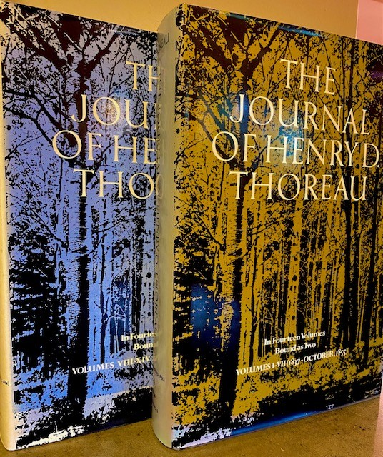 The Journal of Henry D. Thoreau, 2 Vols.; In Fourteen Volumes Bound as Two- -1: Vols. I-VII (1837 - October, 1855) and 2: Vols. VIII-XIV (November, 1855 - 1861)