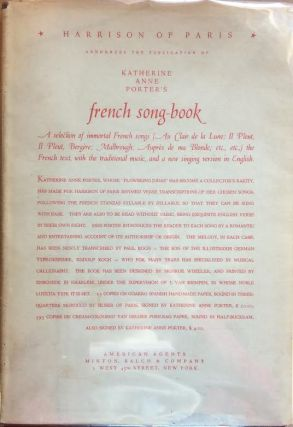 Katherine Anne Porter's French Song-Book (Signed First Edition). Katherine Anne Porter.