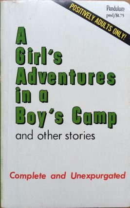 A Girl's Adventures in a Boy's Camp. Sexy Cover Art Anonymous