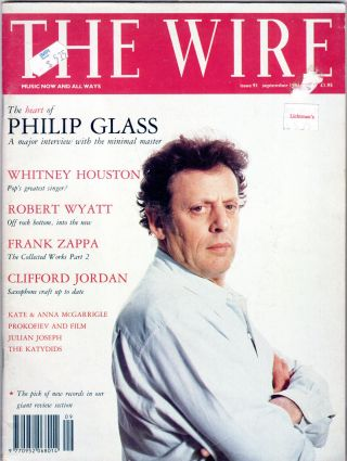 Wire Magazine Issue 91. Richard Cook, Graham Lock, Mark Sinker