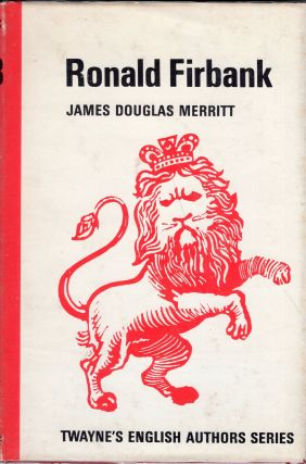 Ronald Firbank (Twayne's English Authors Series 93). James Douglas Merritt