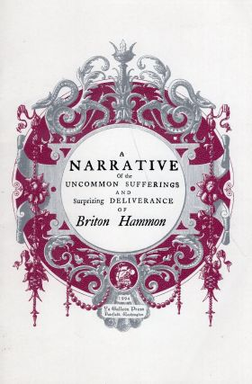 A narrative of the uncommon sufferings, and surprizing deliverance of Briton Hammon